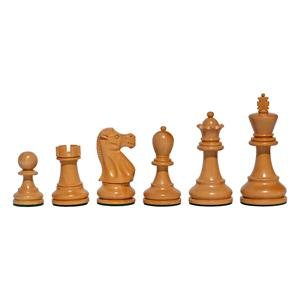 Black Stained Chess Set - 15 inch