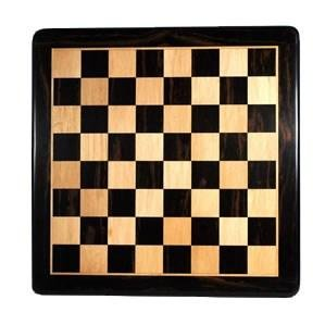 Luxury Chess Board - Ebony with Rounded Corners 21 in.