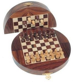 Wood Magnetic Folding Chess Set
