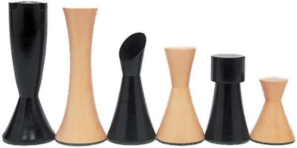 Modern Chessmen - Weighted & Handpolished Black Stained Wood with 3.5 in. King