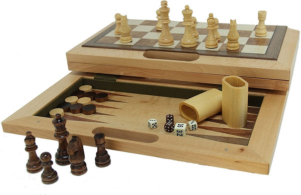 3-in-1 Camphor Wood Combination Set with a Folding Board and Handle for Easy Travel