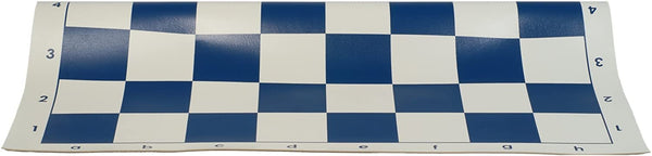 Tournament Roll Up Chess Board - Vinyl with Blue Squares
