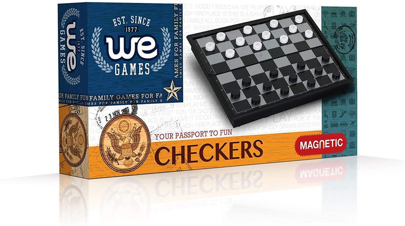 Magnetic Checkers Set - 10 inches
