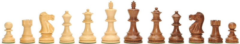 English Staunton Chessmen - Weighted & Handpolished Wood with 4 in. King