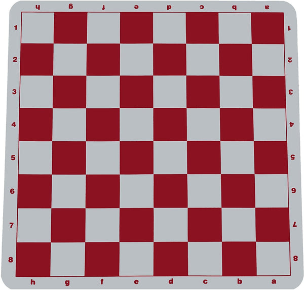Ultimate Tournament Chess Board - Silicone with Red Squares