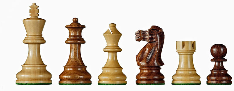 Staunton Chessmen - Weighted & Handpolished Sheesham & Boxwood with 2.5 in. King