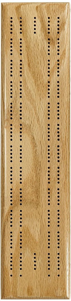 Competition Cribbage Set (Made in USA) - Solid Oak Wood Sprint 2 Track Board with Metal Pegs