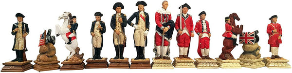 WE Games American Revolutionary War Chess Pieces - 3.5 inch king