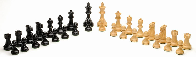 Grand Staunton Redwood Chess Set - Weighted Pieces & Redwood Board 19 in.