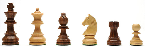 Classic Staunton Chessmen - Weighted & Handpolished Wood with 3 in. King