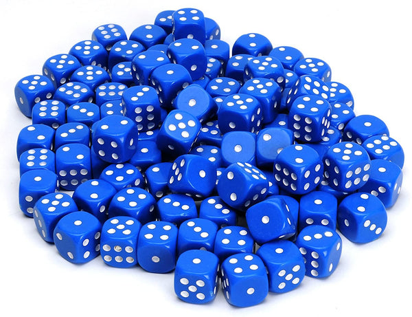 Blue Dice with Rounded Corners - 100 Pack