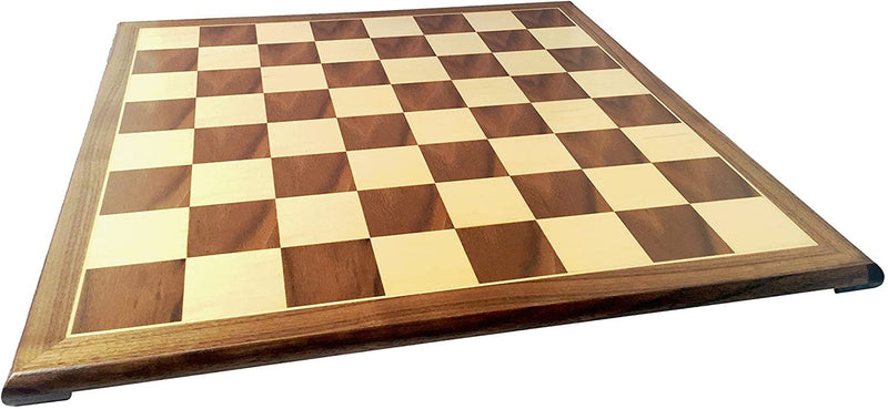 Wooden Chess & Checkers Board with Pedestal Base - 20 inch