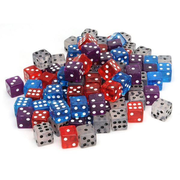 Assorted Colors Dice - 100 Pack