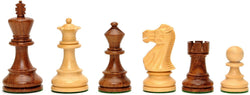 English Staunton Chessmen - Weighted & Handpolished Wood with 3 in. King