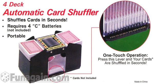 4-Deck Shuffler - Battery Operated