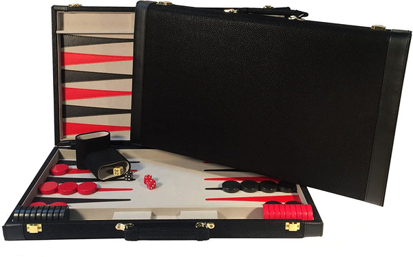 Black Suede Backgammon Set - 21 in.