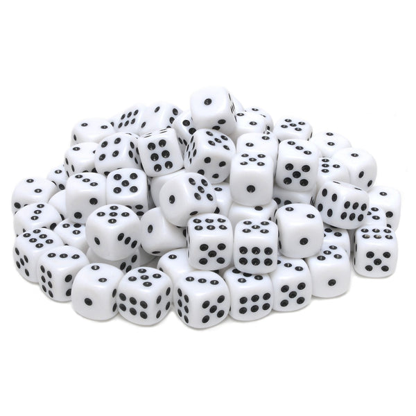White Opaque Dice with Rounded Corners