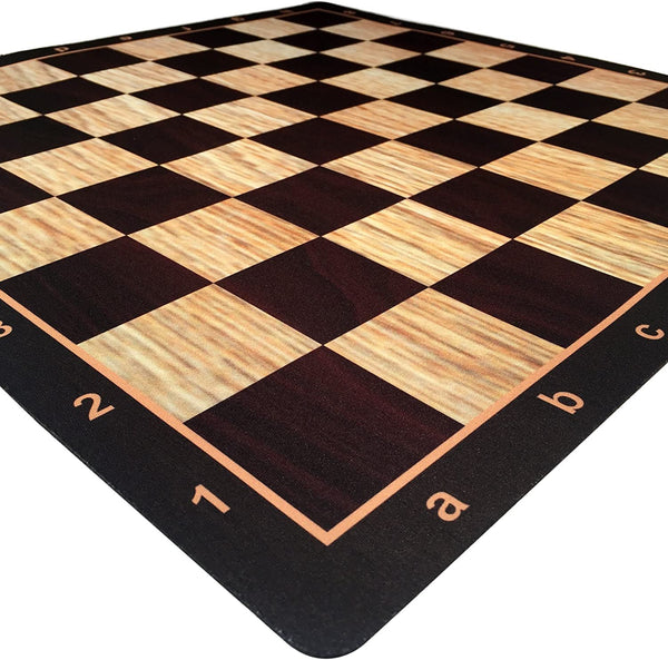 WE Games Wenge with Rosewood & Light Wood Mousepad Chessboard, 20 inches – made in USA