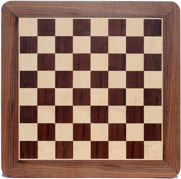 Grand Chess Board - Walnut Wood with Rounded Corners 21 in.
