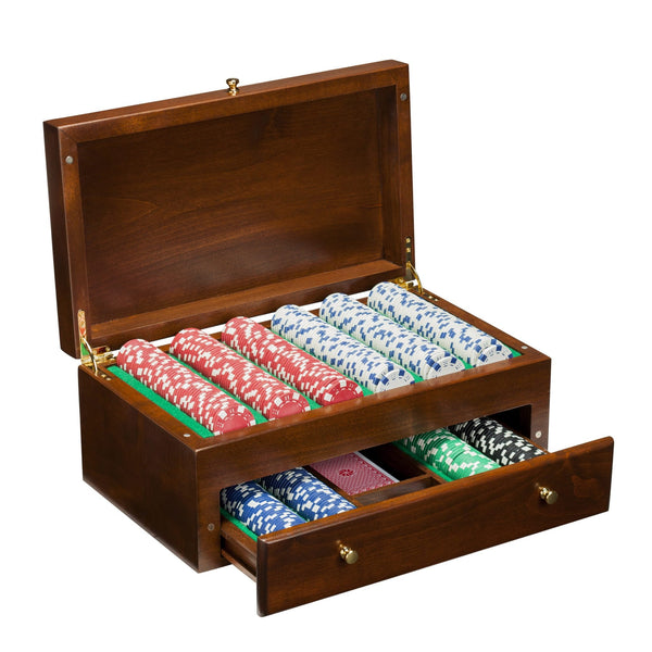 500 Chip Poker Set in Beautifully Crafted Wood Case