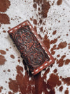 Chocolate Tooled Leather Wallet