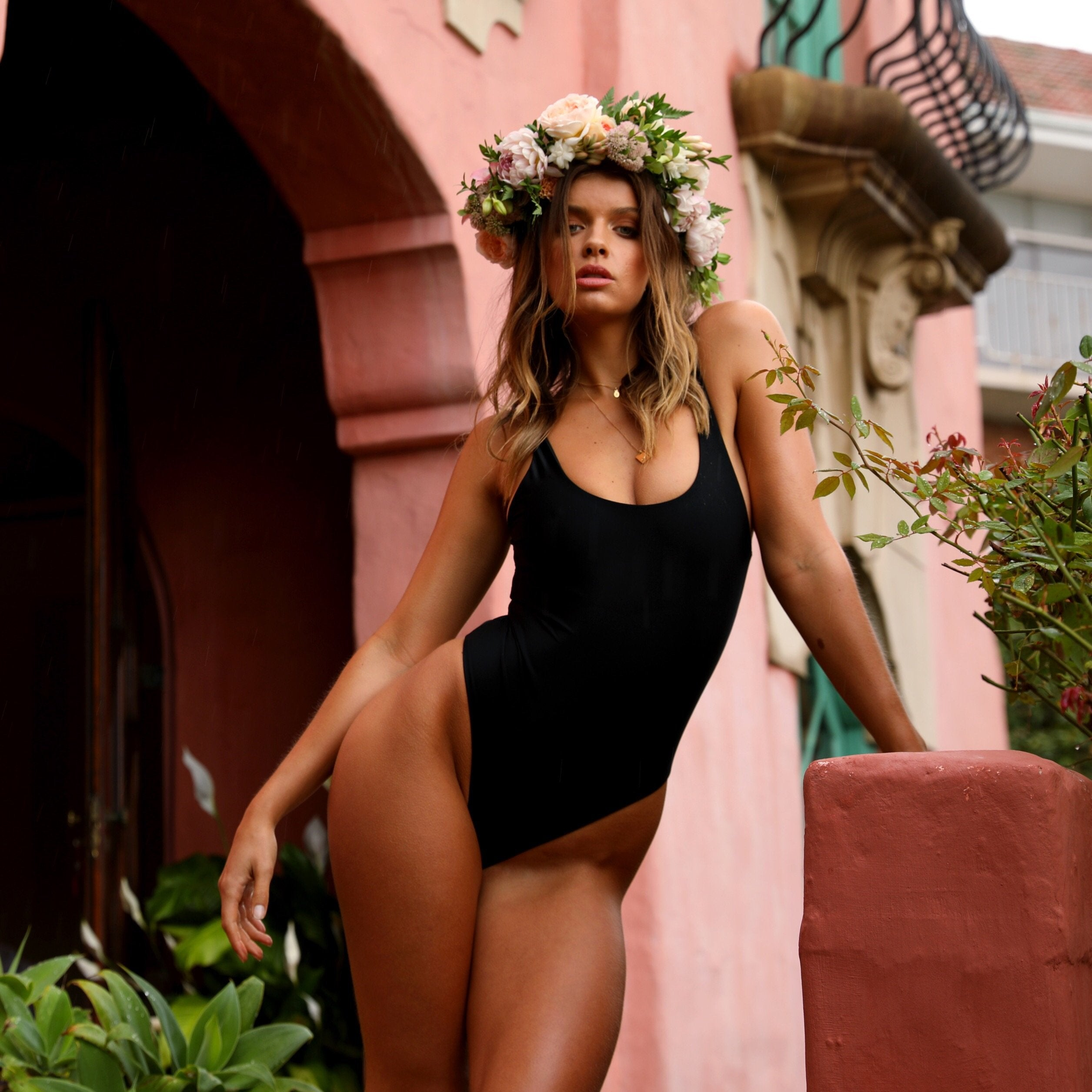 One Piece Swimwear - Pitch Black
