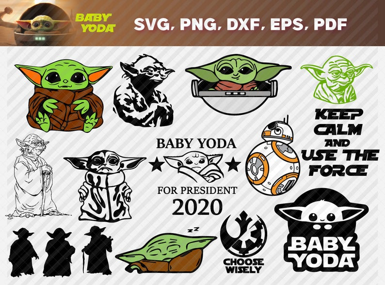 Baby Yoda Bundle Svg Dxf Png Digital Download Instant Download Lovesvg Net