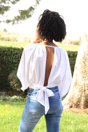 White Shirt With Back Out
