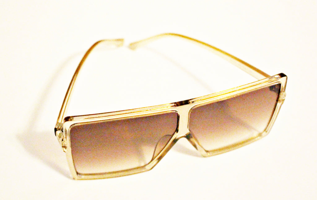 Clear Gold Sunglasses