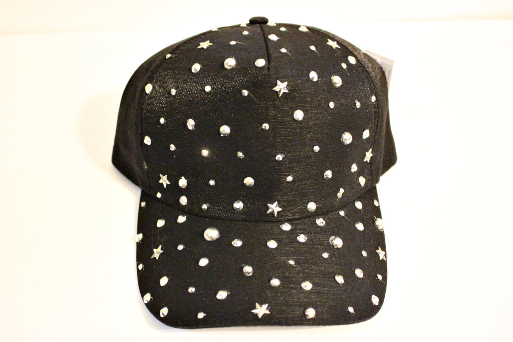 Studded Black Hat
