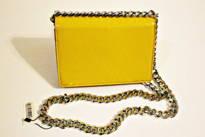 Yellow Purse With Sliver Chain