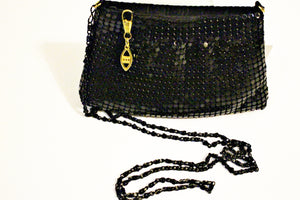 Small Side Black Sequin Purse