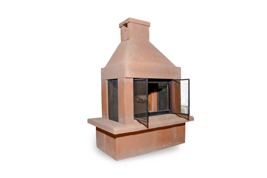 Three Screen Outdoor Fireplace Kit-Copper