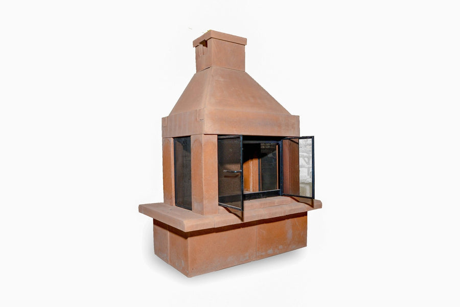 Three Screen Outdoor Fireplace Kit-Sandstone