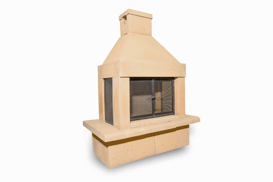 Three Screen Outdoor Fireplace Kit-Tan
