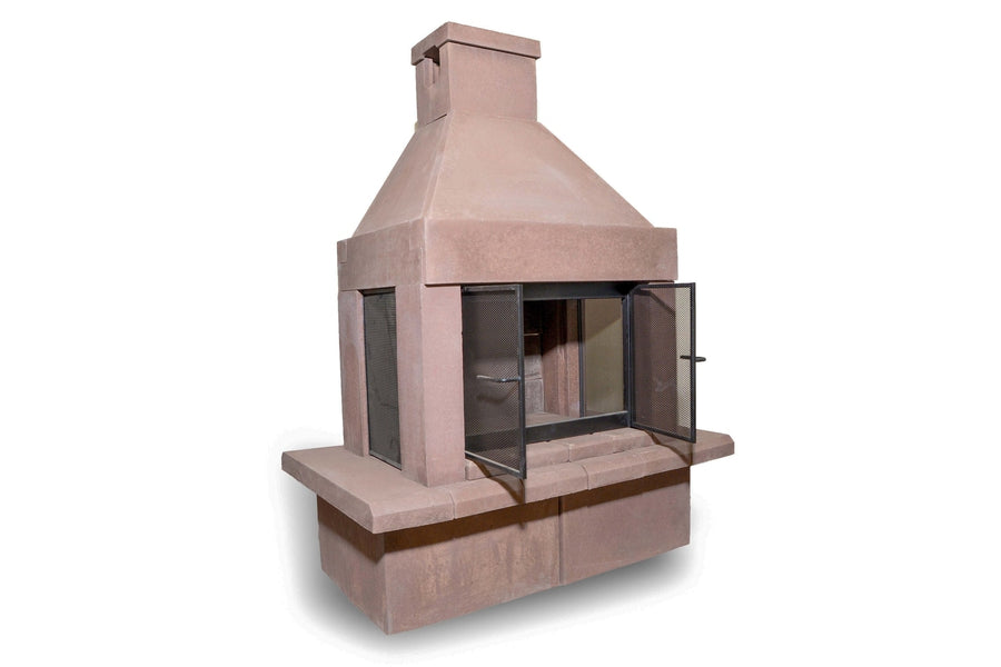 Three Screen Outdoor Fireplace Kit-Taupe