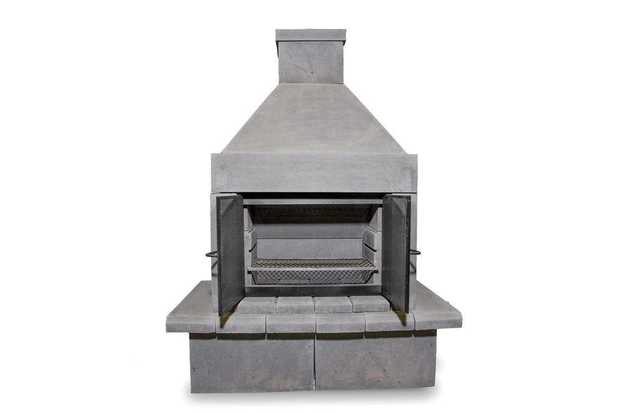 BBQ Outdoor Fireplace Kit-Black