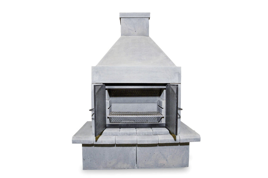 BBQ Outdoor Fireplace Kit-Pewter