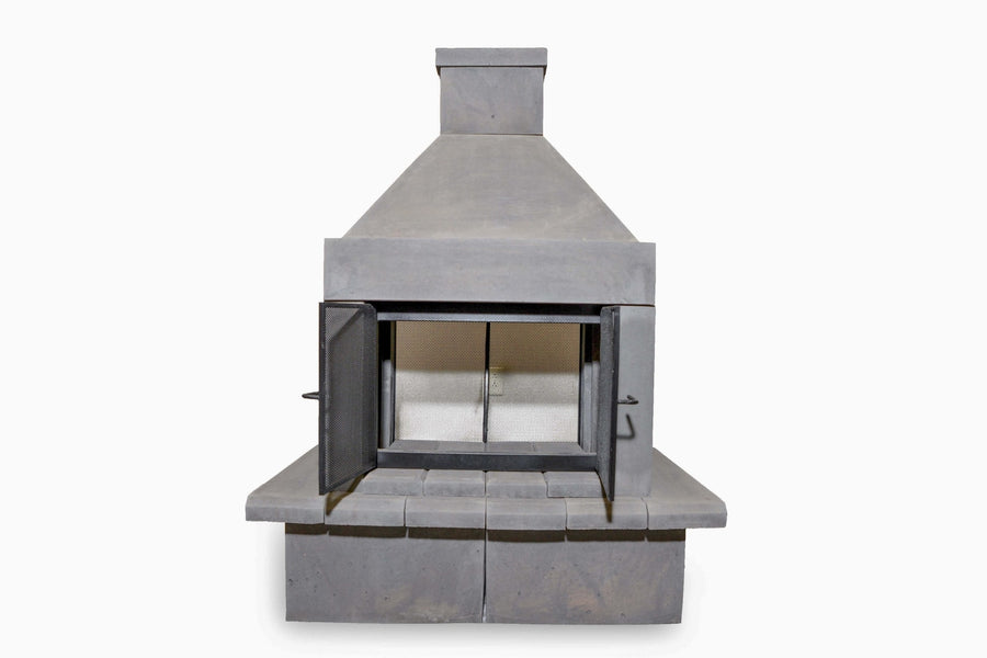 Open Outdoor Fireplace Kit-Black