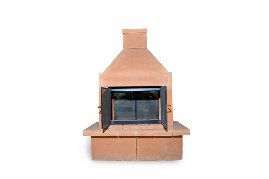 Open Outdoor Fireplace Kit-Copper