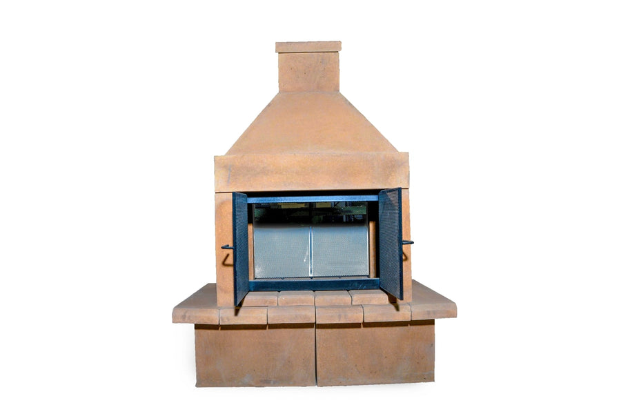 Open Outdoor Fireplace Kit-SandStone