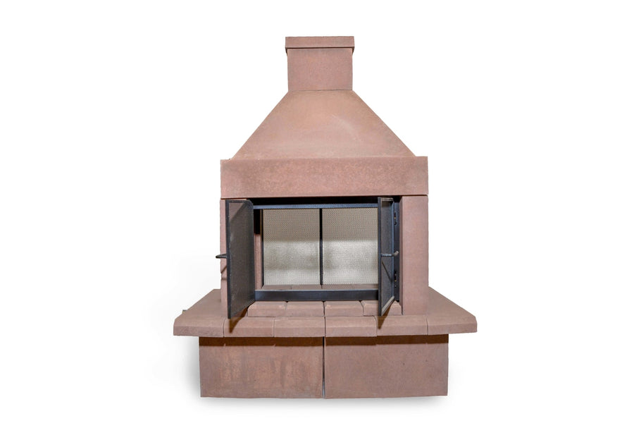 Open Outdoor Fireplace Kit-Taupe