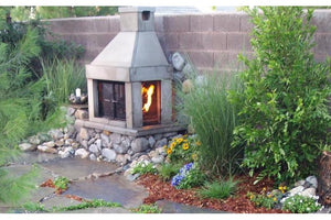 Three Screen Outdoor Fireplace Kit