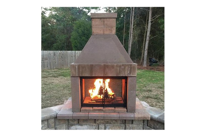 Open Outdoor Fireplace Kit
