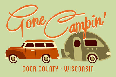 Gone Camping Dish Towel