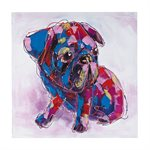 Colorful Pug Wall Art Canvas