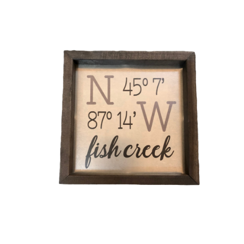 Door County Coordinates Wall Art