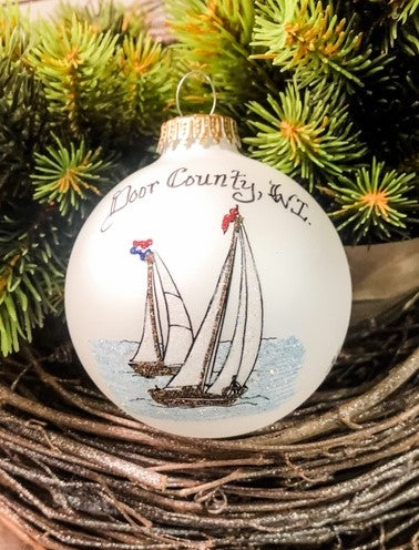 Door County Sailboat Ornament