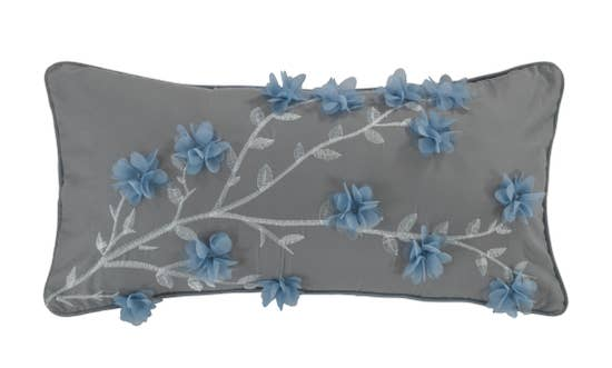 Silver Branch Throw Pillow