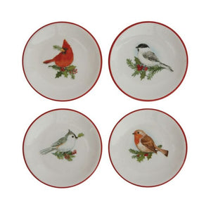 Set of 4 Small Bird Dishes